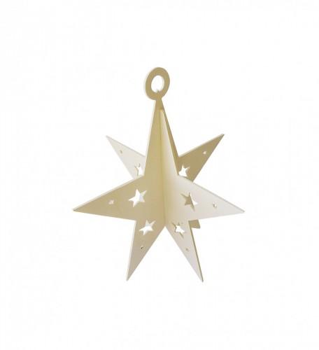Stella Di Natale Legno.Stella Di Natale In 3 D In Legno Grandi Dimensioni
